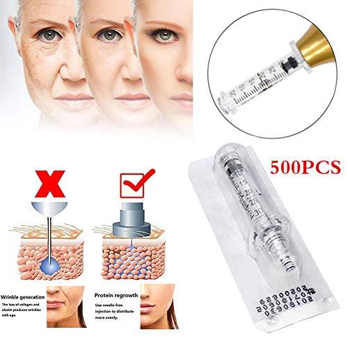 NSWD 0,3 Ml Cabeza de Ampolla - Inyectable Pluma de Ácido Hialurónico, Eliminación de Arrugas Inyección Atomizador Belleza Desechable Consumibles, 500 pcs