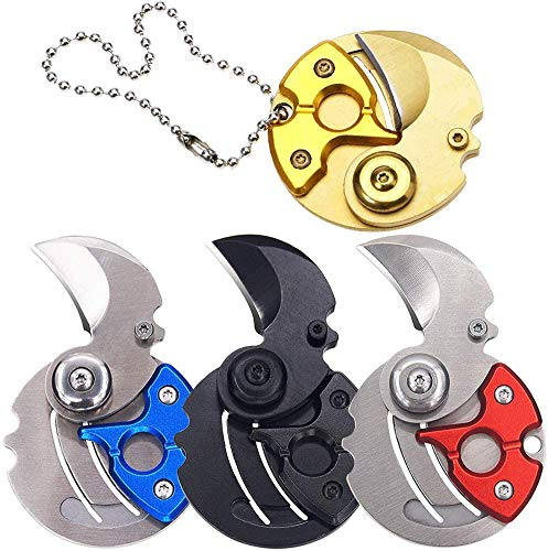 BESTZY 4Pcs Mini Münzen Taschenmesser Klappmesser EDC Survival Tools Kleine Münzmesser,Outdoor Titan Tasche Schlüsselbund Tragbare