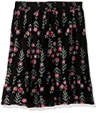 Crazy 8 Girls' Big Woven Skirt, Black Floral Embroidered, M