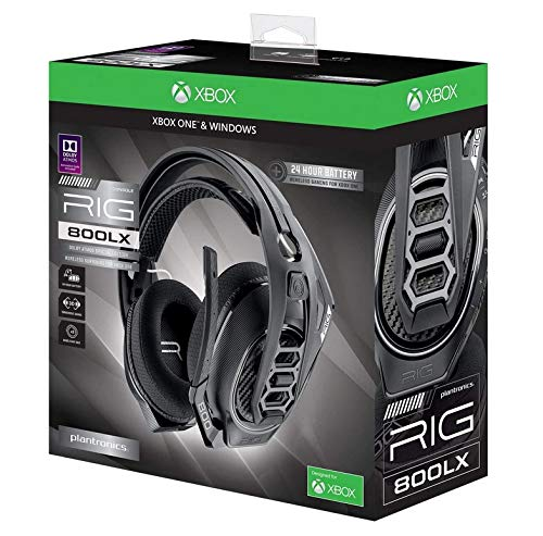 Plantronics Gaming Headset, RIG 800LX Wireless Gaming Headset for Xbox One Atmos Code NOT Included
