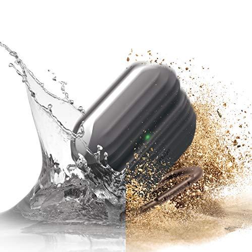 elago Funda AirPods Pro Impermeable Waterproof Diseñado para AirPods Pro Funda – Cubierta, Prueba de Polvos y Choques (Gris Oscuro)