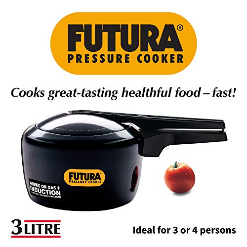 Hawkins Futura Hard Anodised Induction Compatible Pressure Cooker, 3 Litre