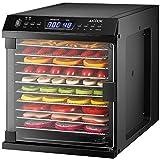 Déshydrateur Alimentaire AICOOK, Deshydrateur Aliment en Mode Combiné 2 en 1 Avec Minuterie et Réglages de Température pour la Viande, les Fruits, et les Légumes, écran à LED, 10 Plateaux, Sans BPA