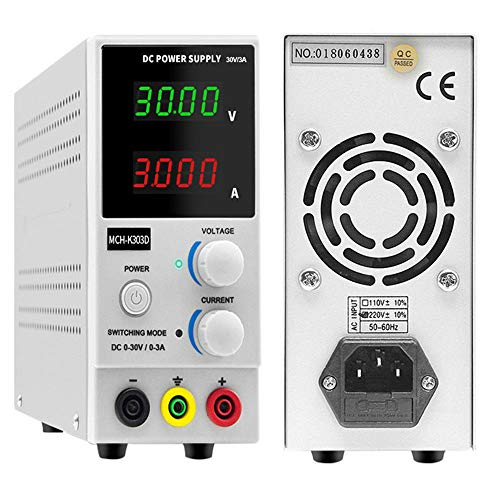 HAHMHO DC Bench Power Supply, DC Power Supply Variable Adjustable,0-30V / 0-10A Adjustable Switching Regulated Power Supply Digital, for lab Equipment Repair