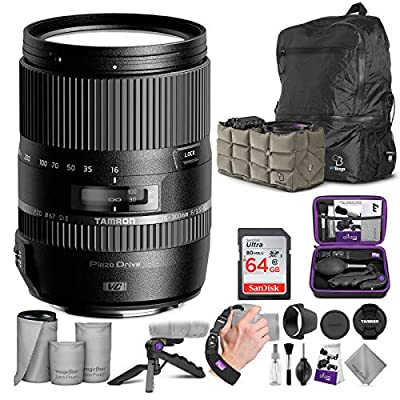 Tamron 16-300mm f/3.5-6.3 Di II VC PZD Macro Lens for Canon DSLR Cameras with Altura Photo Advanced Accessory and Travel Bundle