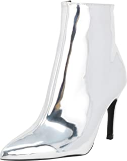 Women's Classic Pointed Toe Stiletto High Heel Ankle Bootie