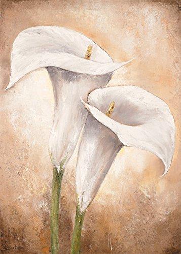 Digitaldruck / Poster Lenna Lotus - Calla Lilly II - 50 x 70cm - Premiumqualität - Kalla, Blumen, Blüten, Pflanzen, Treppenhaus, Wohnzimmer, Esszimmer, weiß - MADE IN GERMANY - ART-GALERIE-SHOPde