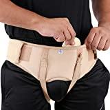 Hernia Belt, Single or Double Side Inguinal Hernia, Adjustable and Removable Pressure Pads