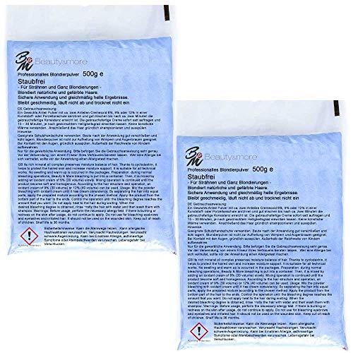 2x Beauty&More Professionelles Blondierpulver - sehr hochwertig- 500gr je Beutel