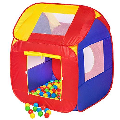 TecTake pop Up Kinderspielzelt | Spielhaus mit Bällebad | inkl. 200 Bälle + Tasche | -Diverse Modelle- (Typ 2 | Nr. 400729)