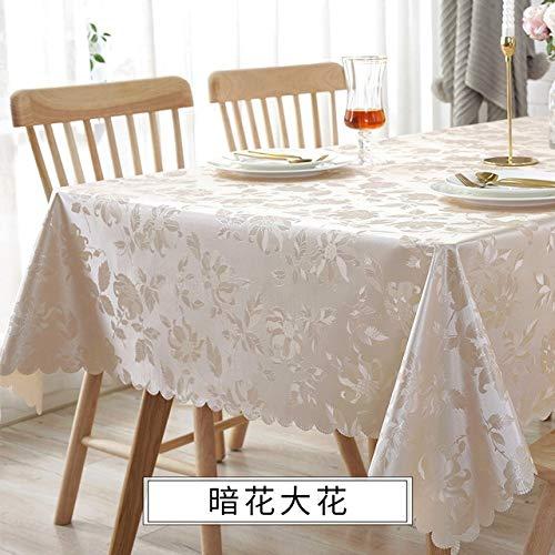 ShiyueNB waterdicht anti-verbranding tafelkleed Jacquard print bloem tafelkleed patroon rooster rechthoekig vierkant tafelkleed dubbel 120 x 170 cm B
