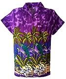 SAITARK Camisa Hawaiana para Hombre, diseño de Loros, para la Playa, Fiestas, Verano y...