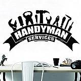 Handyman pegatina de pared herramienta de servicio de arte reparación del hogar vinilo interior de habitación para adolescentes pegatina de pared moderna Mural A4 78x42cm