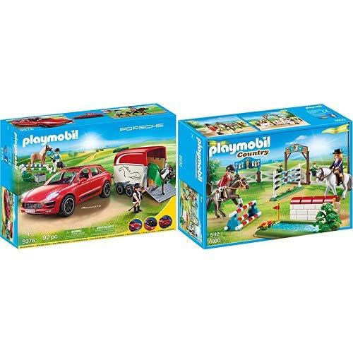 Playmobil 9376 - Porsche Macan GTS Spiel &  6930 - Reitturnier