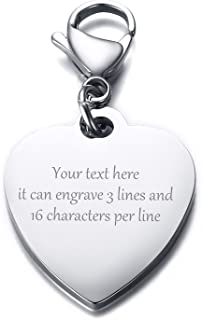 Round Charm Laser Engraved Your own text  Engraved Charm 12mm or 14mm round 0013 Stainless Steel Engraved Charm