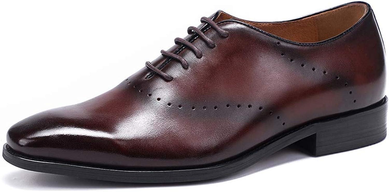 MISS&YG Herren-Business-Kleider Schuhe Brock Geschnitzt Oxford Schuhe