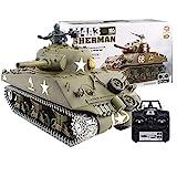 Heng Long 6.0V radio remote control 1/16 rc tank M4A3 Sherman tank 2.4G system --- Metal tracks + Metal Gears + Metal Sprockets by Big Boyz