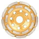 Disco abrasivo de diamante, disco abrasivo de doble hilera de 115/125/180 mm para máquina pulidora, amoladora angular(115mm)