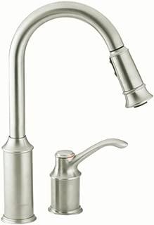 Moen 7590CSL Aberdeen One-Handle High-Arc Pulldown Kitchen Faucet Featuring Reflex, Classic Stainless