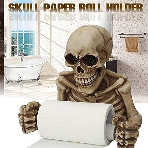 Top 10 best selling list for halloween toilet paper holder skeleton grinning skull