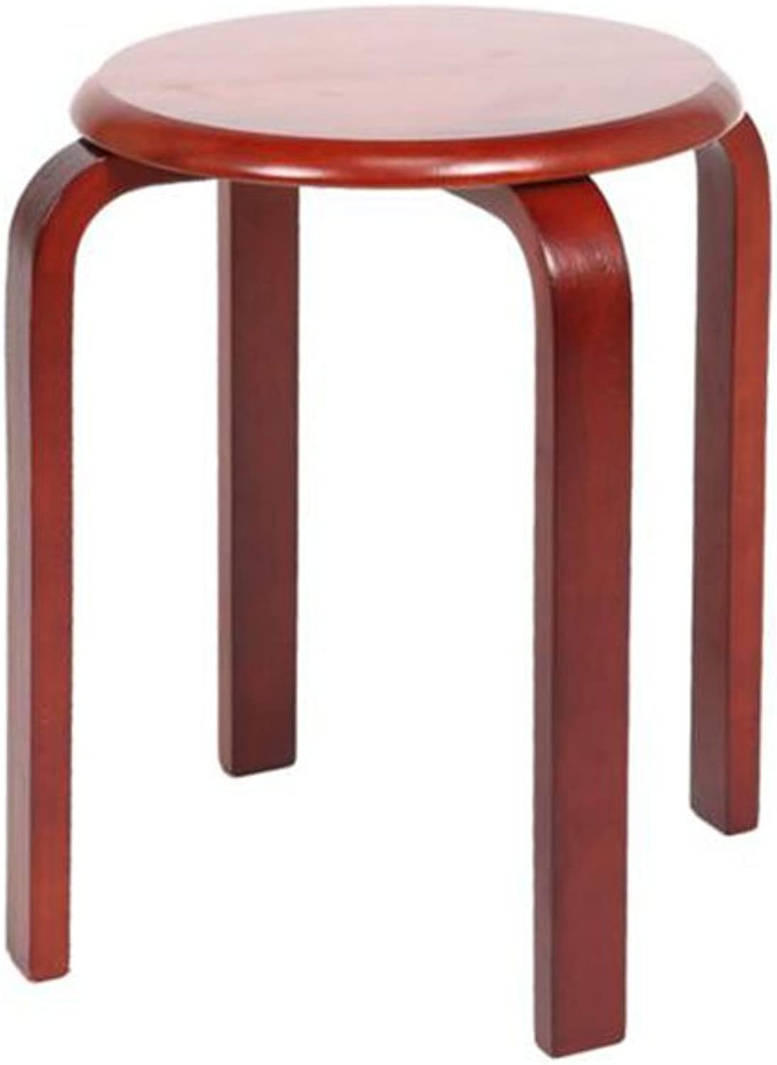 CJC Wooden Stool Solid Wood Adult 4 colors Home Office Furniture Kitchen (color   2)