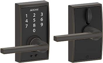 Schlage Touch Century Lock with Latitude Lever (Aged Bronze) FE695 CEN 716 LAT