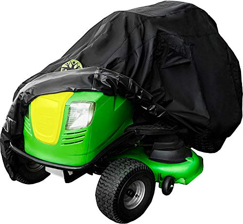 Family Accessories Riding Mower with Installed Bagger Storage Cover, 100% Waterproof Heavy Duty 600D Cover for Tractor with Attachment