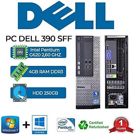 PC DELL 390 SFF INTEL PENTIUM G620 2,60 GHZ/4GB/250GB/DVD/WIN 10 PRO (Ricondizionato) - Confronta prezzi