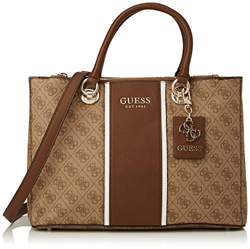 Guess Cathleen Status Carryall, Bags Satchel Mujer Brown, 37 x 12 x 25 cm