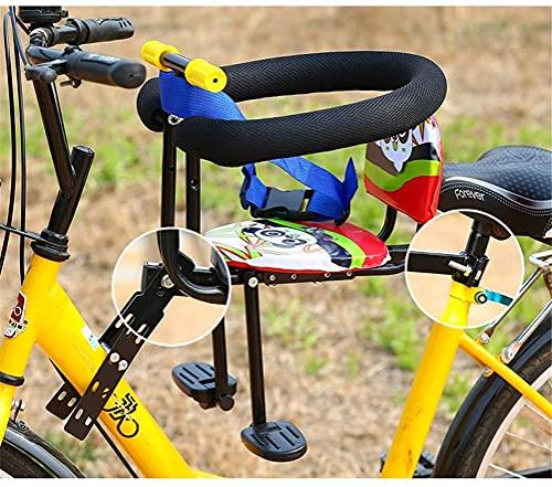 X&Y Asiento para niños para el Montaje Frontal de la Bicicleta Desmontaje rápido Asiento de Seguridad para la Bicicleta Electrombile con apoyabrazos y Pedal 60kg rodamiento (Color : Screw Style)