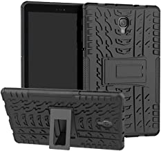for Samsung Cases & Covers for Samsung Galaxy Tab A 10.5 inch 2018 Model SM-T590/T595/T597 Tablet Dual Layer Hybrid Armor Kickstand 2 in 1 Shockproof Cover (Color : Black)