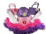 Butterfly Twinkles Girls Tea Party Dress Up Set Hats Purses Boas Gloves Pink Purple Morgan