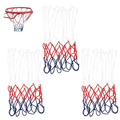 Xinzistar 3 Stück Profi Basketballnetz, Basketball Ersatz Netz, Netz für Basketballkorb, Basketball Ersatz Netz, Ballnetz Für Standard Größe BasketballKorb, Netz für Basketballkorb Outdoor