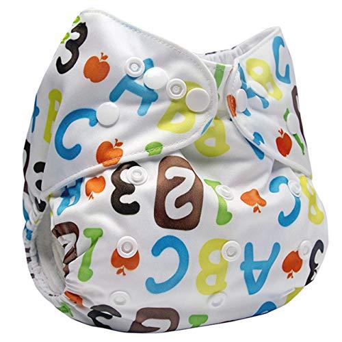 Borlai 1 ST Baby Herbruikbare Wasbare Luier Broek Waterdichte Verstelbare Doek Luiers Leren Broek (Kleur: 03)