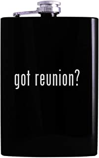 got reunion? - 8oz Hip Alcohol Drinking Flask, Black