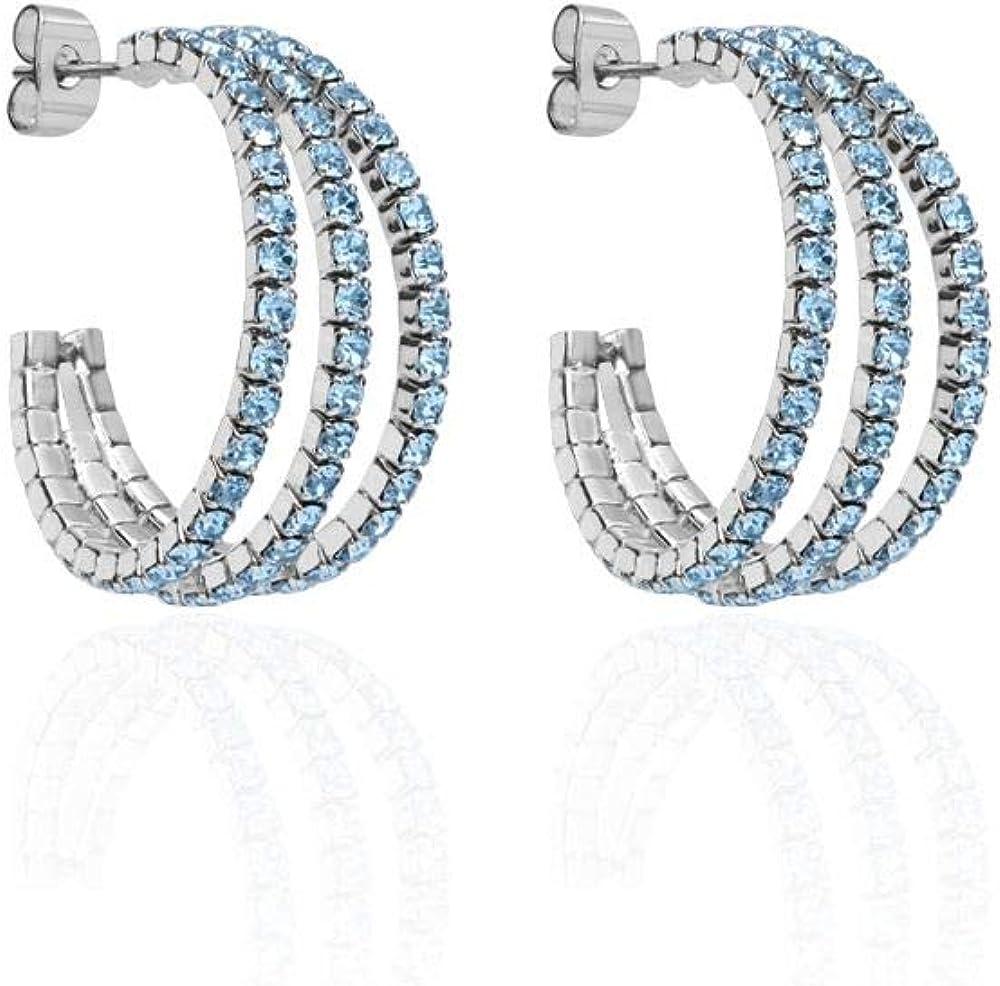 Stroili  orecchini per donna in metallo rodiato e cristalli 1663885