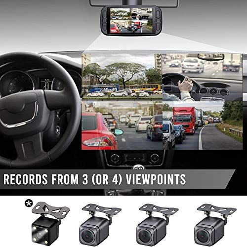 Eagle Eye Triple Dash Cam 3 Cam 1080P GPS Dashcam System, No Memory Included, No 4th Camera, No Warranty