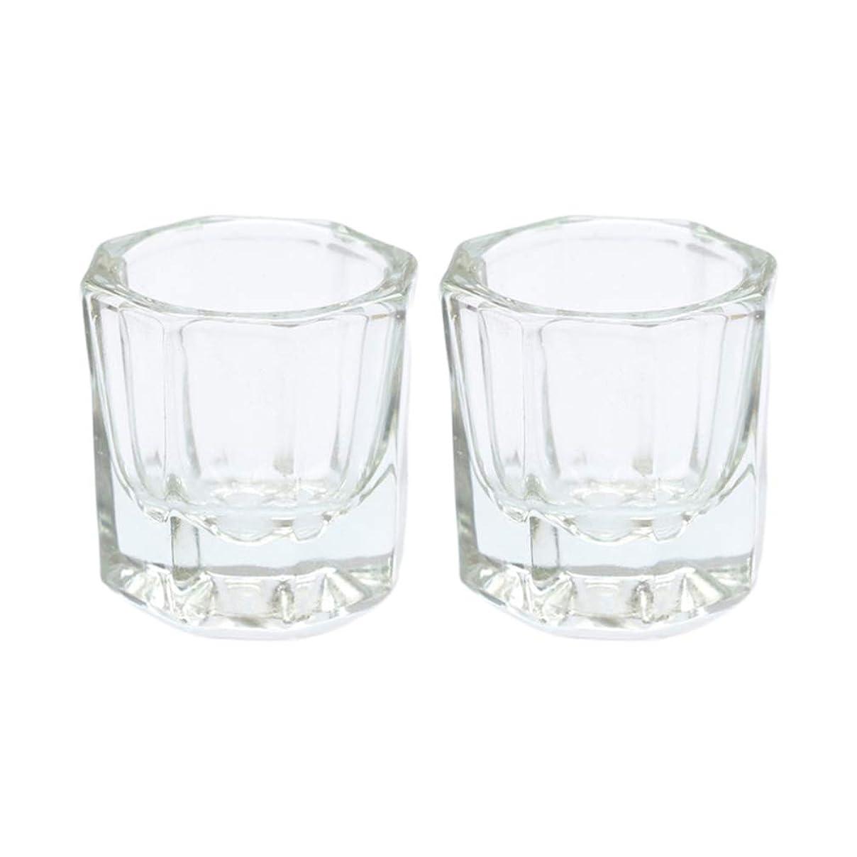 勝利タフコーラスLurrose 2ピースガラスクリスタルダッペン皿ネイルアートアクリル液体粉末ダッペン皿ネイルアートツール