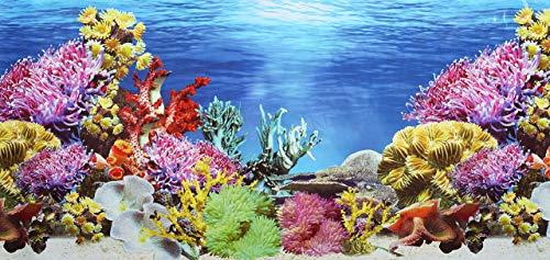 Pistacchio Pet–Poster per sfondo dell'acquario, fronte-retro, 45x 100cm