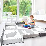 Wee Giggles X-Large Non-Toxic Baby Play Mat | Neutral Nursery or Playroom | Grey