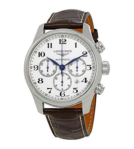 Longines Master Collection Herren-Armbanduhr L2.859.4.78.3, automatisch, weißes Zifferblatt
