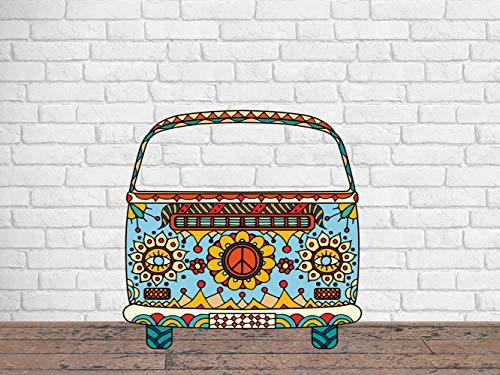 Photocall para Bodas en Cartón Furgoneta Hippie 156X156cm | Photocall Furgoneta Hippie | Photocall Económico y Original | Photocall Troquelado