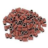PROFICO 50 Stück Schleifbänder | Schleifhülsen Nagelfräser Aufsatz für Maniküre Pediküre | Acrylnägel Gelnägel Hornhaut (#120)