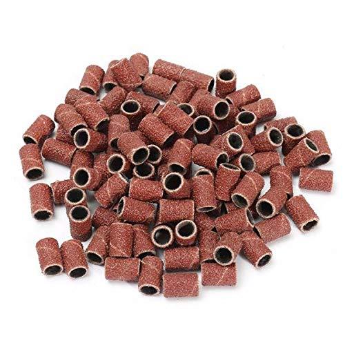 PROFICO 50 Stück Schleifbänder | Schleifhülsen Nagelfräser Aufsatz für Maniküre Pediküre | Acrylnägel Gelnägel Hornhaut (#240)