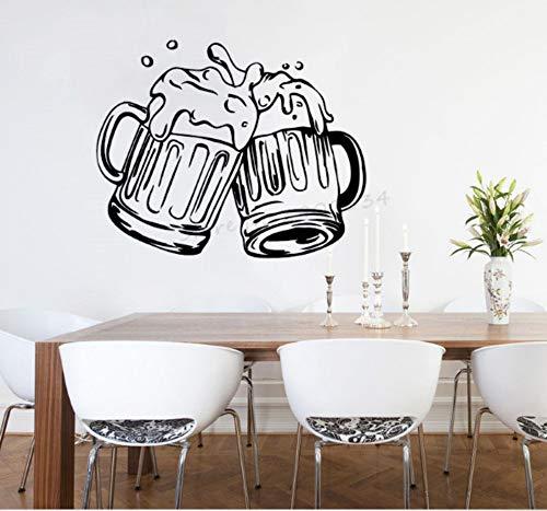 ZJMIQT Bar Bar à bière Poster Mural Vinyle décoration Design fenêtre Cuisine créative Moderne décoration Artb