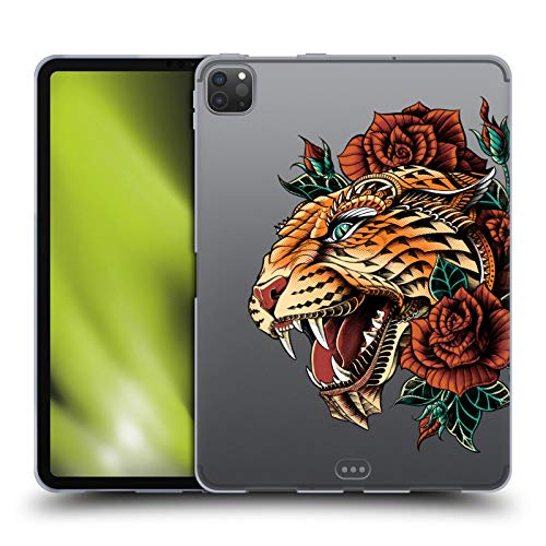 Head Case Designs Officially Licensed Bioworkz Ornate Leopard Coloured Animal Head 2 Soft Gel Case Compatible with Apple iPad Pro 11 (2020)