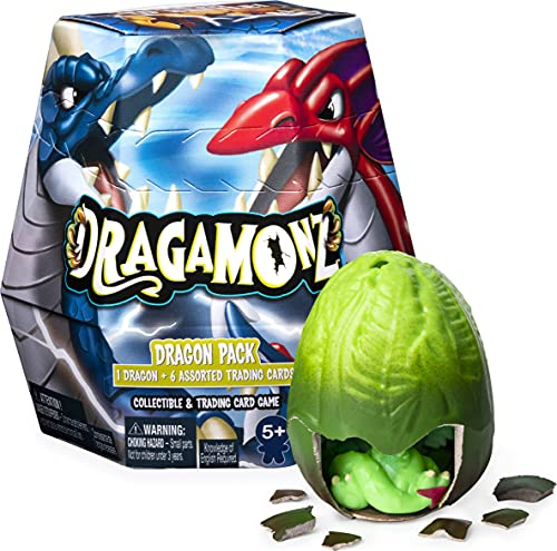 Dragamonz, Dragon 1-Pack, Collectible Figure and Trading Card Game