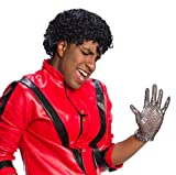 Charades mens Michael Jackson Adult Costume Wig, Black, One Size US