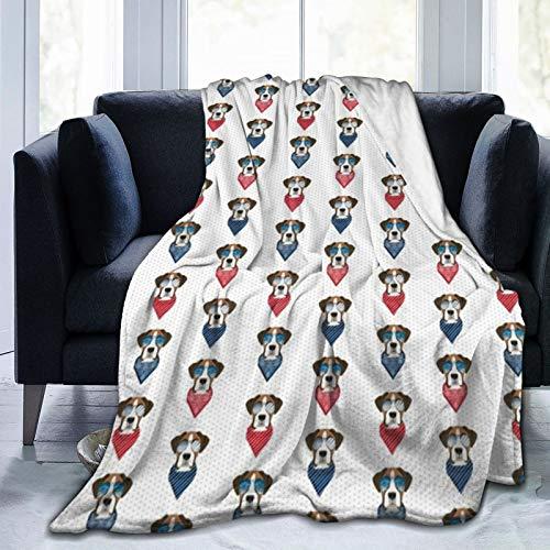 Juego de ropa de cama con gafas de sol de raza de perro de verano de tela blanca con fundas de almohada de microfibra suave y ligera con cierre de cremallera 50 x 40 pulgadas