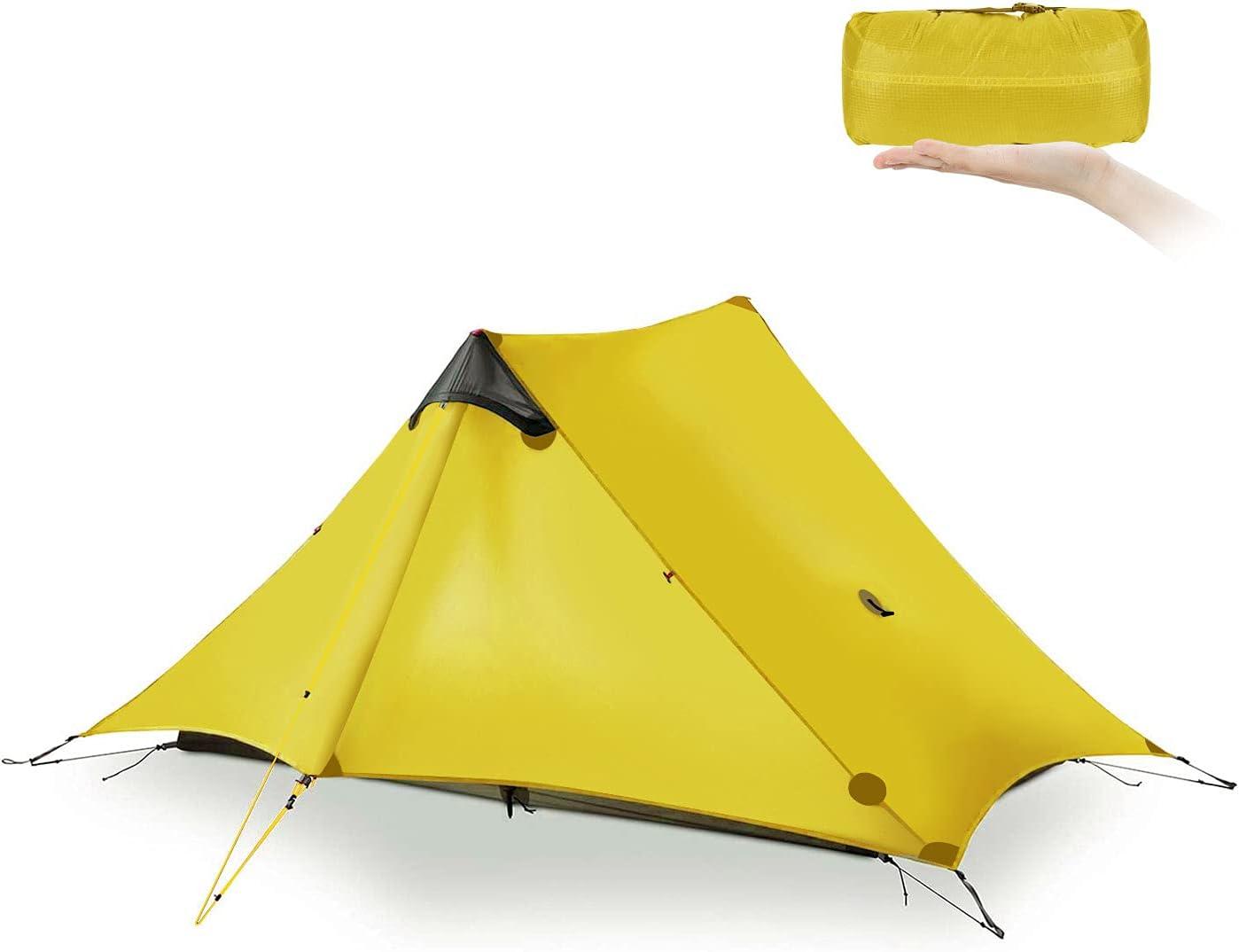 Ultralight Tent 3-Season Backpacking Tent 1 Person/2 Person Camping Tent, Outdoor Lightweight LanShan Camping Tent Shelter, Perfect for Camping, Trekking, Kayaking, Climbing, Hiking